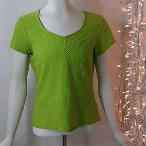 3/$18  Kathy Ireland Green Textured Stretch Top